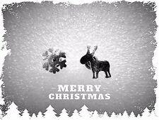 Petite Natale Orecchini, Borchie, Piercing, Fiocco di Neve, Renna, Carina, Carina, in metallo
