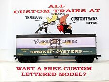 HO CUSTOM LETTERED YANKEE CLIPPER OYSTERS BOXCAR COLLECTIBLE REEFER LOT E