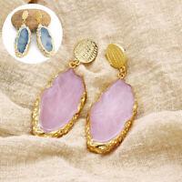 Fashion Jewellery Earrings Geometry Natural Stone Drop Women Irregular Ear Stud