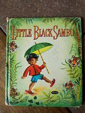 "Rare Edition 1950 ""Little Black Sambo"" Tell-A-Tale HC Children's Book Good"