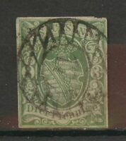 Stamp Germany SACHSEN, Mi2, used, combine shipping 1452