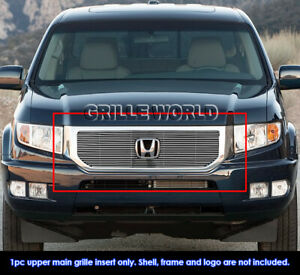 Fits 2012-2014 Honda Ridgeline Main Upper Chrome Billet Grille Grill Insert