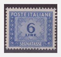 ITALIA 1947 - SEGNATASSE  6 Lire  RUOTA  NUOVO ** CENTRATO