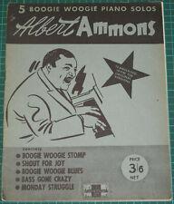 5 Boogie Woogie Piano Solos - Albert Ammons - Peter Maurice 1941