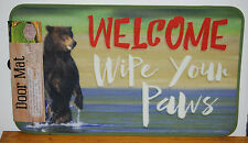 "17.7"" x 30"" Indoor/Outdoor Welcome Wipe Your Paws Door Mat #70555"
