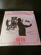 1979 Calendar United Counties Trust Company New Jersey Counties