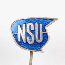 """Distintivo società ago pubblicitari """"NSU"""" moto auto"""