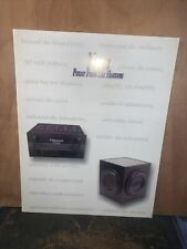 Nova Stereo Products, Power From The Heavens -Dealer Brochure- 1988