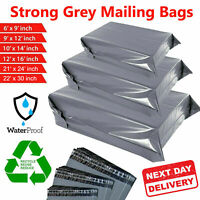 Grey Mailing Bags Strong Parcel Postage Plastic Post Poly Self Seal All Sizes