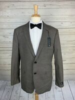 NWT U.S. Polo Assn. Gray Houndstooth Elbow Patch 2 Btn Sport Coat Men 46L Cotton