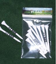 #1Dad White wood golf tees Great Christmas gift for the golfer balls New