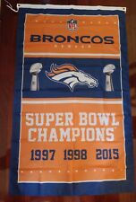 Denver Broncos 3x5 Super Bowl Champions Flag. Free shipping within the US