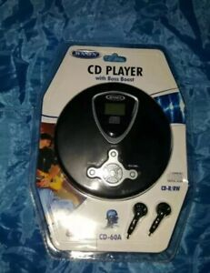 Brand New! Jensen Portable CD Player CD-60A with ear buds Bass Boost