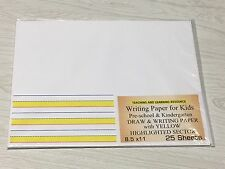 Writing Paper for Kids - Draw and Writing Paper - Yellow Highlighted