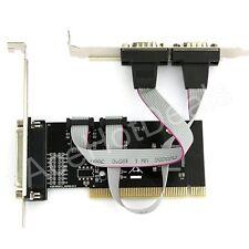 RS232 DB9 9 pines Serial DB25 puerto paralelo impresora Combo Tarjeta PCI