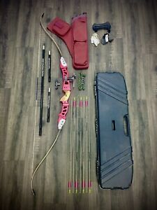"Browning Archery 66"" Composite Recurve Bow Complete Set Samick Cartel Easton"