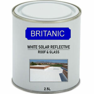Vinyl Solar reflective roof and glass paint - White - 2.5Litres