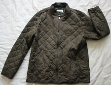 Barker's Designer Men's Brown Quilted Coat Jacket Size XXL Good Used Condition