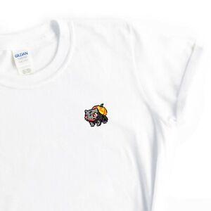 Bulbasaur Halloween T Shirt Womens Slogan Graphic Print White Soft Cotton Top
