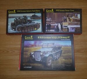 Caesar miniatures 1/72 joblot WW2 German sdkfz 10, Tank Riders & Panzer crews.