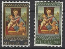 ST.LUCIA SG241/2 1967 CHRISTMAS MNH