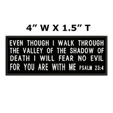 PSALM 23:4 ROCKER EMBROIDERED PATCH CHRISTIAN RELIGIOUS iron BIBLE VERSE JESUS