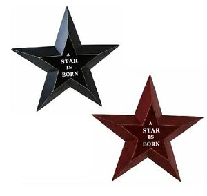 """Wall Art Hanging Plaque """"A STAR IS BORN"""" Celebration New Occasion (set of 2)"""