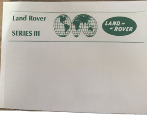 land rover series 3 .1979/1985 Manual