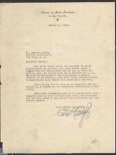 VINTAGE LETTER / SUCESION  DE JAIME FONALLEDAS / TOA BAJA PUERTO RICO / 1940