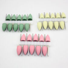 30 Pcs NEW Dental Silicone Polishing Burs Rubber Polishers Diamond