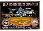 NEW!! HOUSTON ASTROS WIN 2017 WORLD SERIES OVER THE DODGERS MAGNET