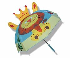 Toddler Little Kid Boys or Girls Cute Zoo Pop-up Umbrella,Lion~USA Seller