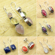 Mixed Styles EARRINGS Jewelry ! 925 Silver Plated Multistone & Other Stones Gift