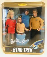 1996 ~ Barbie & Ken ~ Star Trek Gift Set 30th Anniv ☆ Mattel Kirk & Spock NIB!