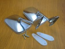 "Chevy Ford Hot Rod Custom Chrome 5.9""x3.9"" Swan Neck Side View Mirrors Pair"