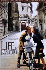 Life Is Beautiful Movie Promo Poster Roberto Benigni Nicoletta Braschi Giustino