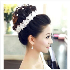 Bridal Charming Rhinestone Lace Flower Headband Wedding Party Hair Accessories