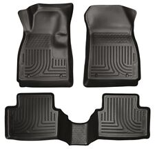 2011-2014 Ford Fiesta Husky WeatherBeater Front & 2nd Row Black Floor Liners
