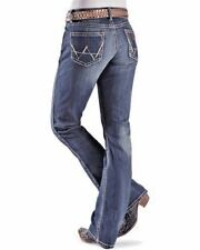 NWT 09MWZLR Wrangler Premium Patch Mae Fit Jeans Above Hip Boot Cut 9/10 X 32