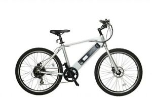 New GenZe - e101 Rec Riser Electric Bike - Silver 350 watts Ebike Bicycle