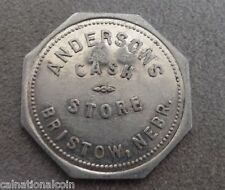 Anderson Cash Store Bristol, Nebr.  Good for 50 cents in Merchandise stamped GA
