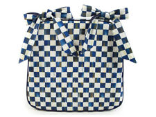 Mackenzie Childs ROYAL CHECK Blue & White CHAIR CUSHION NEW $98 m19-2
