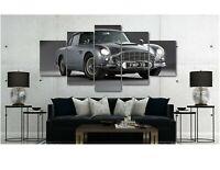 Aston Martin DB5 - James Bond - Canvas Wall Art Print - Various Sizes
