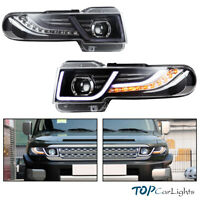 VLAND Headlights For Toyota FJ Cruiser 2007-2014 LED Halo Projector+Free Grille