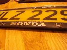 2x Honda Number Plate holders CIVIC ACCORD JAZZ CR-V HRV FR-V Tous Les Modèles