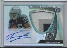 TAIWAN JONES 2011 TOPPS PLATINUM REFRACTOR RPA 3 COLOR JUMBO PATCH AUTO RC /475