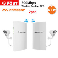 2x COMFAST 300Mbps WiFi Wireless Outdoor CPE Bridge Extender WIFI Signal Booster