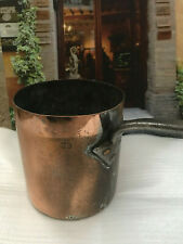 RARE ANTIQUE DEHILLERIN STYLE DOVETAIL STAMPED FRENCH COPPER MILK POT