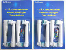 8x Electric Replacement Toothbrush Brush Heads SB-17A - Oral B Braun Vitality