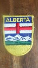 Alberta Canada Embroidered Patch Mountains  Flag Badge TU20